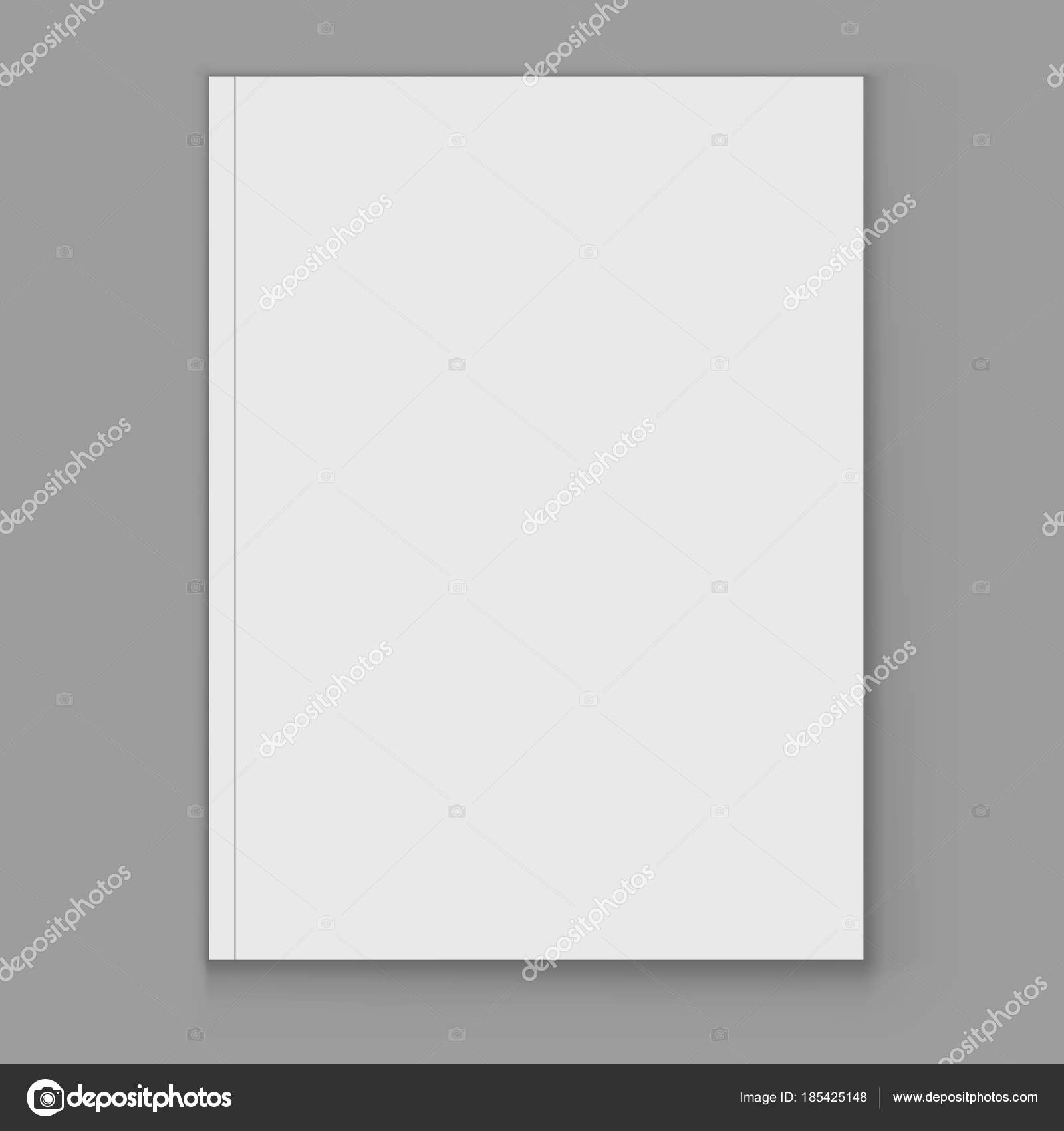 Magazine Cover Blank New Blank White Magazine Cover Page Vector Template — Stock