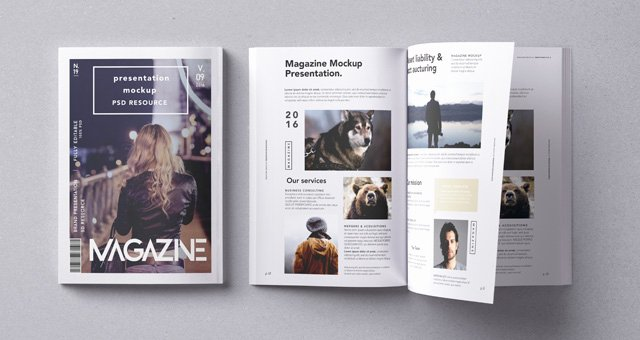 Magazine Cover Templates Psd Awesome Psd Magazine Mockup Vol9 Psd Mock Up Templates