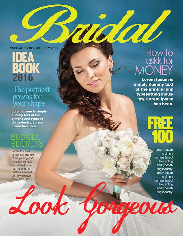 Magazine Cover Templates Psd Best Of Bridal Magazine Cover Psd Template – Graphicloads