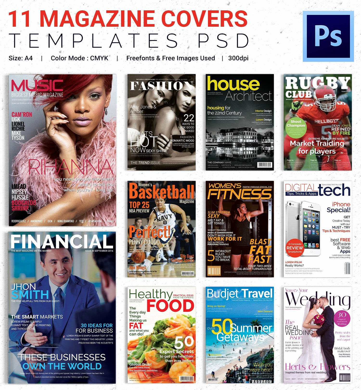 Magazine Cover Templates Psd Elegant Magazine Cover Psd Template – 31 Free Psd Ai Vector Eps