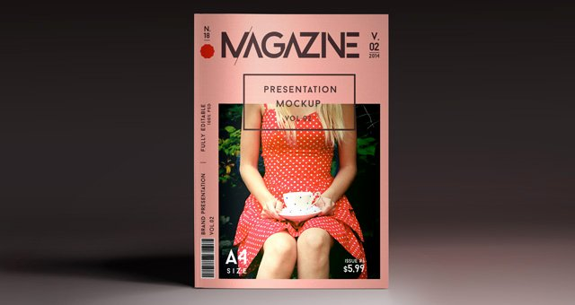 Magazine Cover Templates Psd Fresh A4 Psd Magazine Mockup View Vol2