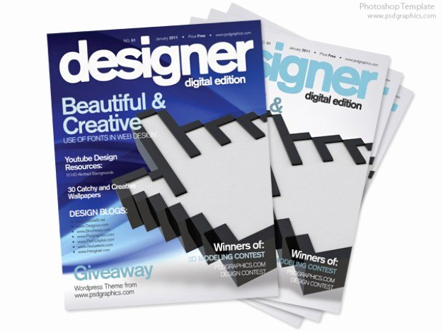 Magazine Cover Templates Psd Lovely Blue Magazine Cover Design Psd Print Template Psd File