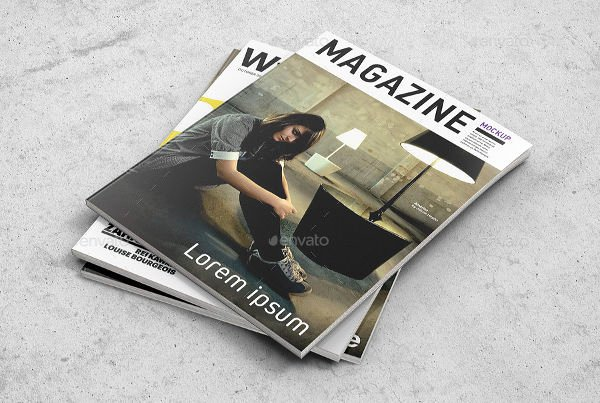 Magazine Cover Templates Psd New 54 Realistic Magazine Cover Mockups Psd Ai