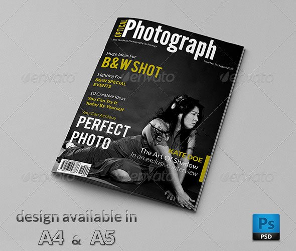 Magazine Cover Templates Psd Unique 50 Indesign & Psd Magazine Cover & Layout Templates