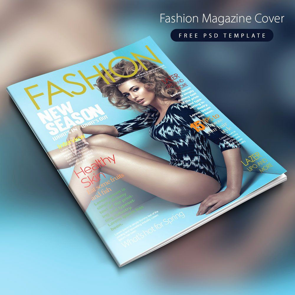 Magazine Cover Templates Psd Unique Fashion Magazine Cover Free Psd Template Download