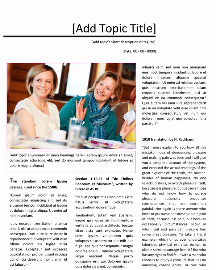 Magazine Template for Microsoft Word Beautiful Magazine Template for Microsoft Word Dotxes