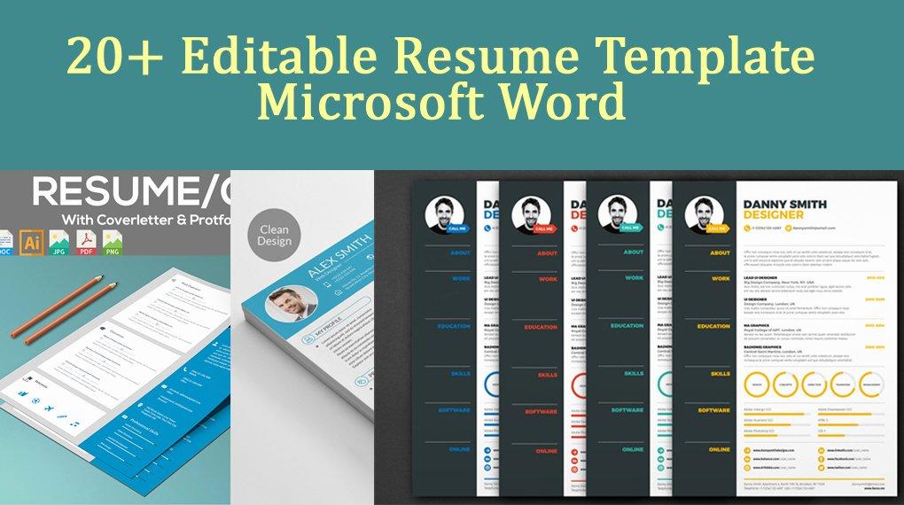Magazine Template for Microsoft Word Elegant 20 Editable Resume Template Microsoft Word Download now