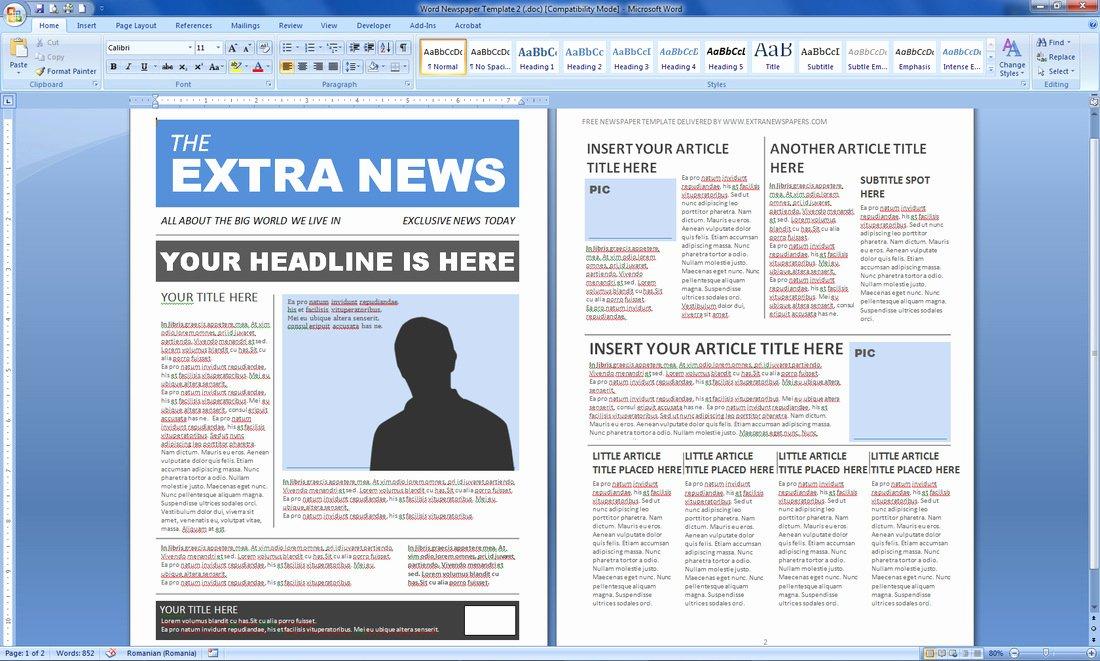 Magazine Template for Microsoft Word Elegant Magazine Templates Word Word Excel Samples