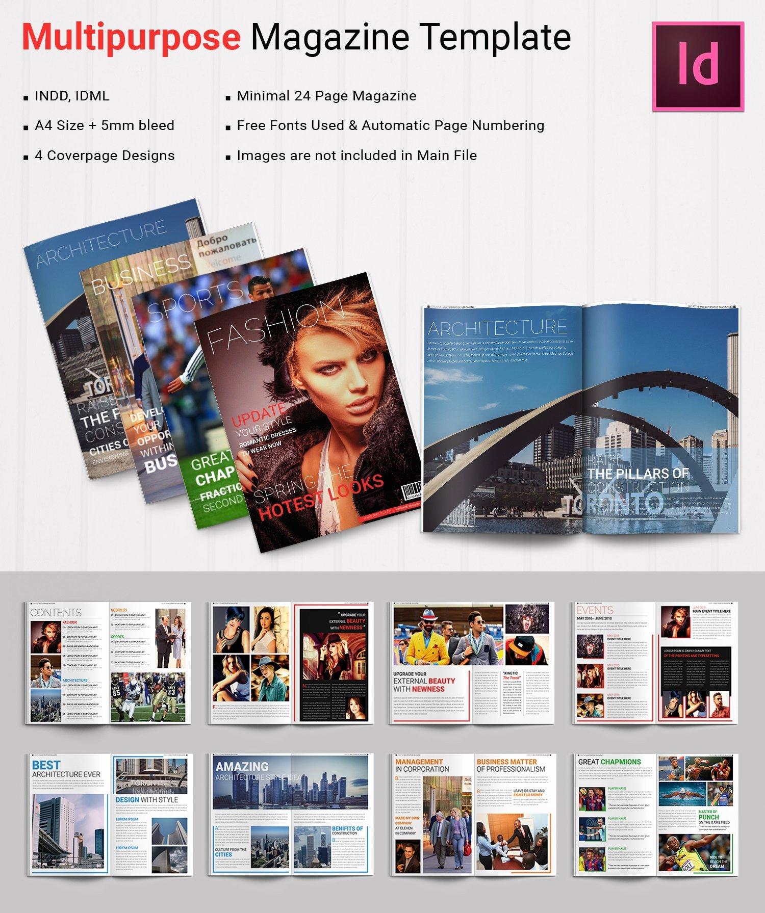 Magazine Template for Microsoft Word Luxury 55 Brand New Magazine Templates Free Word Psd Eps Ai