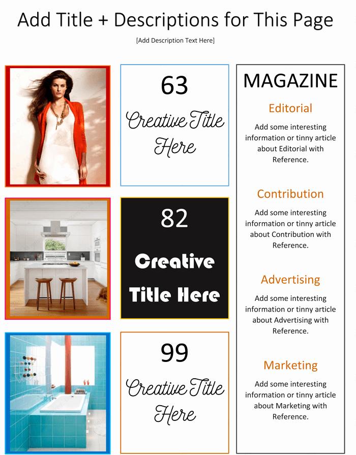 Magazine Template for Microsoft Word Unique Magazine Template for Microsoft Word Dotxes