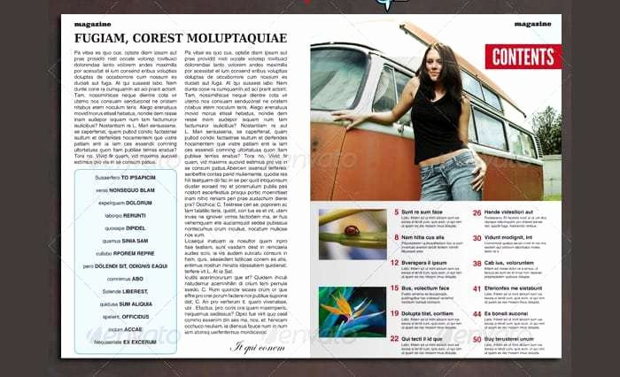 Magazine Template Free Word Beautiful 9 Table Of Contents Templates Word Excel Pdf formats