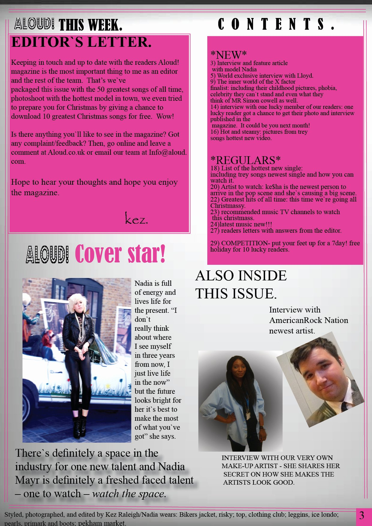 Magazine Template Free Word Fresh as Media Studies
