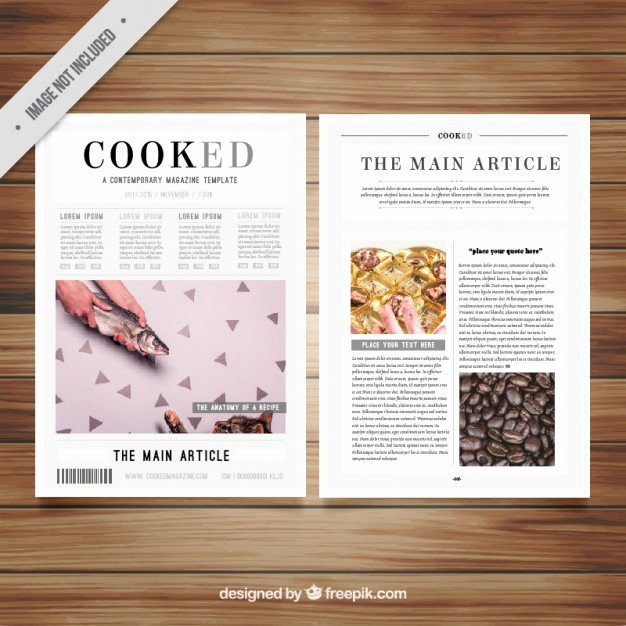 Magazine Template Free Word Fresh Magazine Template with Pictures Vector