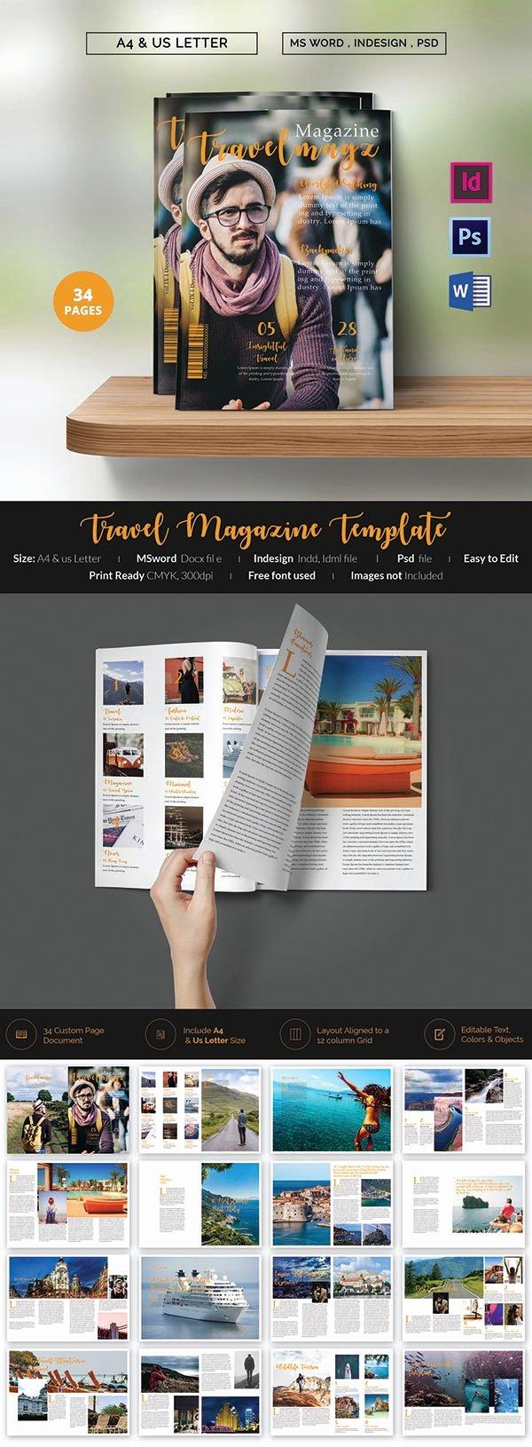 Magazine Template Free Word Luxury 55 Brand New Magazine Templates Free Word Psd Eps Ai