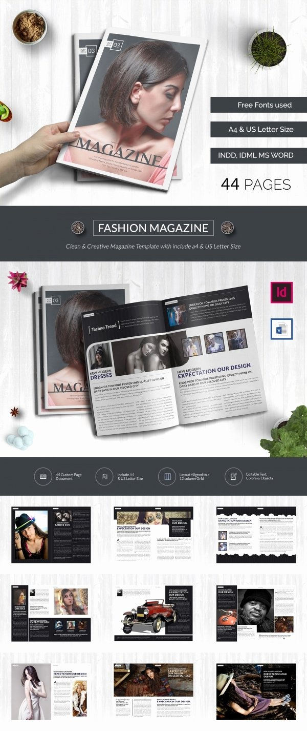 Magazine Template Free Word New 55 Brand New Magazine Templates Free Word Psd Eps Ai