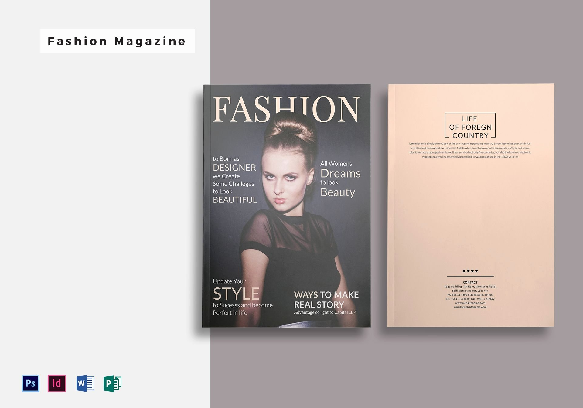 Magazine Template Free Word Unique 28 Pages Fashion Magazine Template In Psd Word Publisher