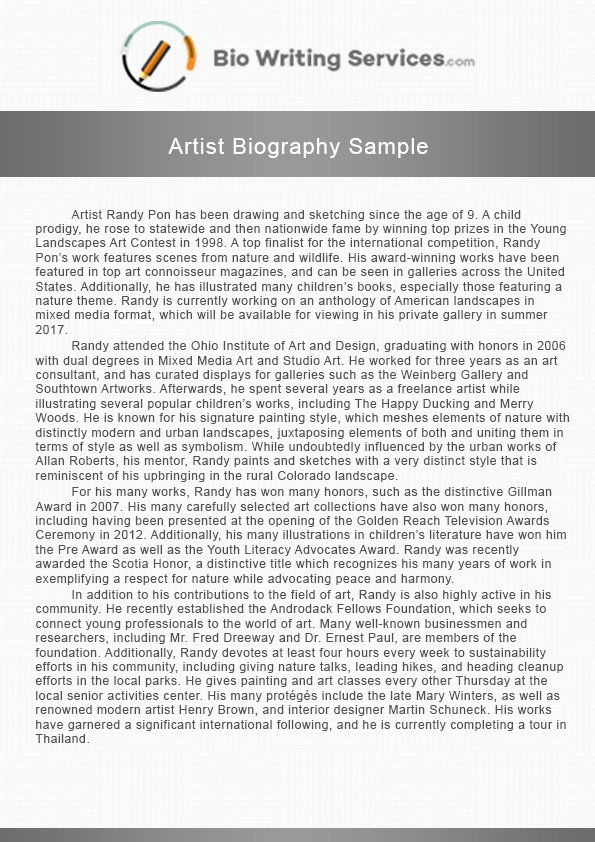 Makeup Artist Bio Examples Best Of 18 Artist Biographies Examples