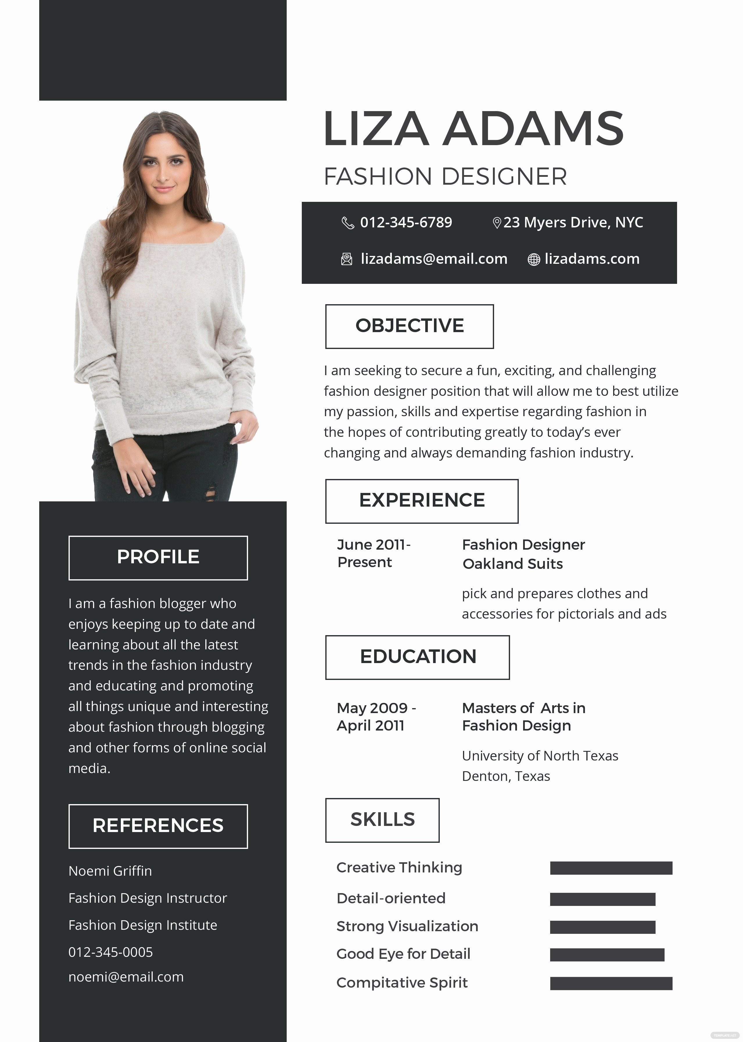 Makeup Artist Bio Samples Inspirational Free Fashion Designer Resume and Cv Template In Psd Ms
