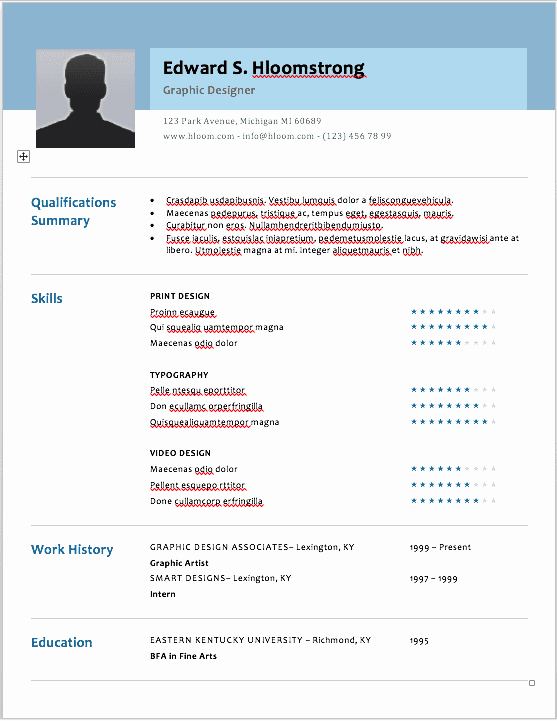 Makeup Artist Bio Samples Lovely the 17 Best Resume Templates for Every Type Of Professional