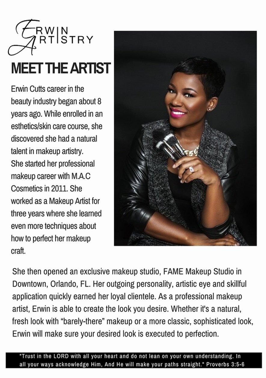 Makeup Artist Bio Samples Unique Makeup Artist Bio Example