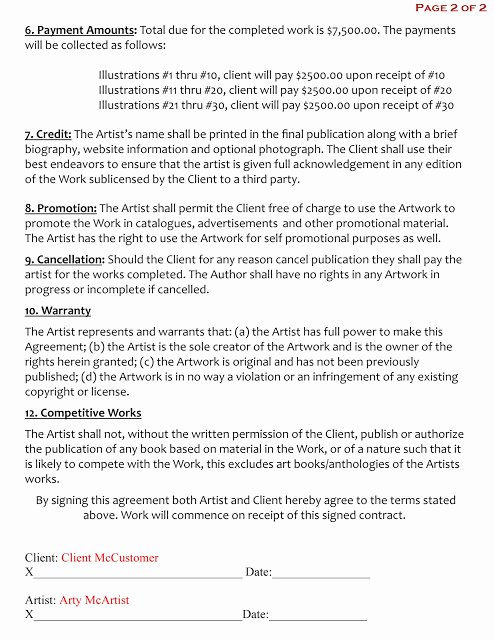 Makeup Contract Templates Inspirational 15 Of Freelance Artist Contract Template
