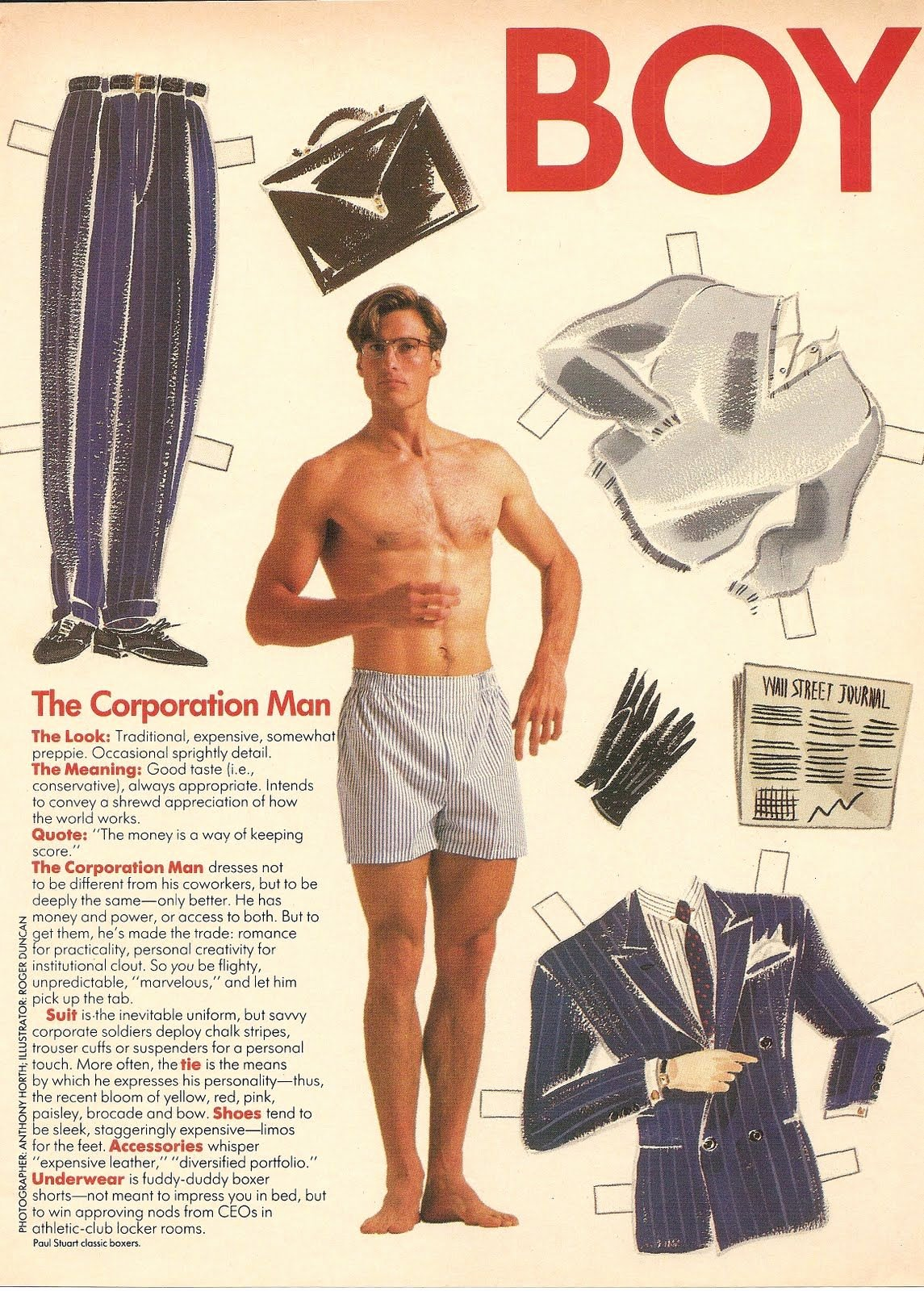 Male Paper Doll Fresh Boy toy Hanes Advert 1 Of 2 Paper Dolls
