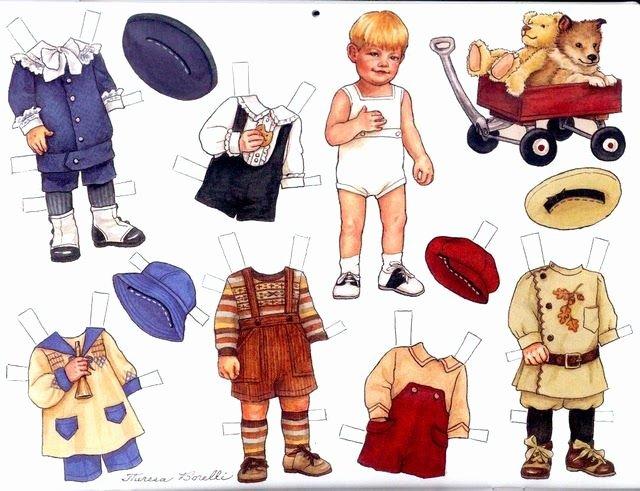 Male Paper Doll Inspirational Little Boy Paperdolls Paper Dolls Pinterest