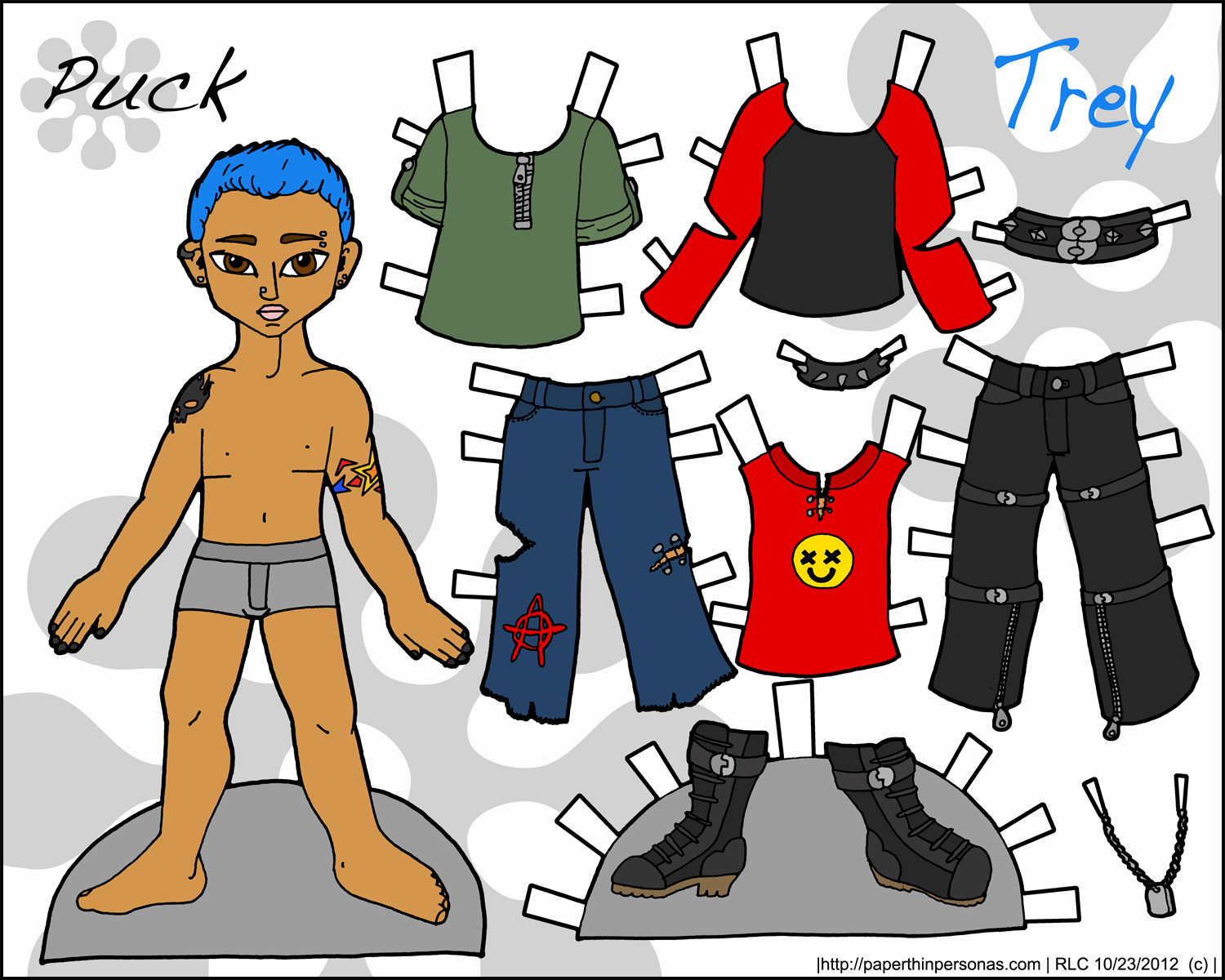 Male Paper Doll Unique Pucks Guys Archives • Paper Thin Personas