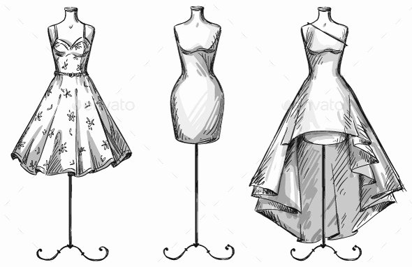 Mannequin Template for Fashion Design Awesome Drawn Gown Mannequin Pencil and In Color Drawn Gown