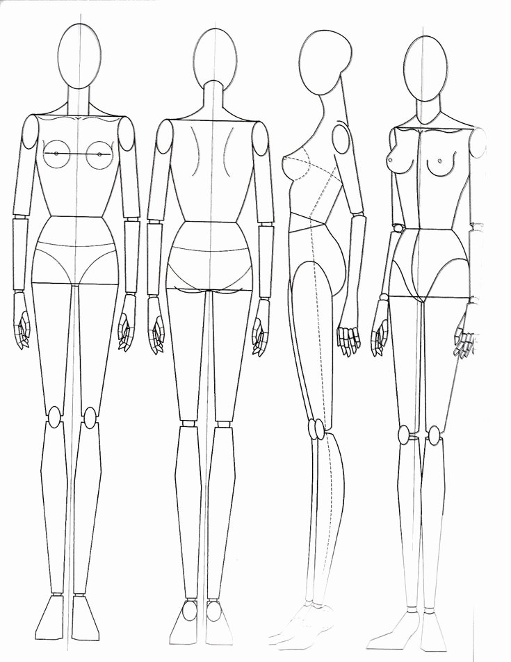 Mannequin Template for Fashion Design Beautiful Fashion Figures Drawing Google Search эскизы