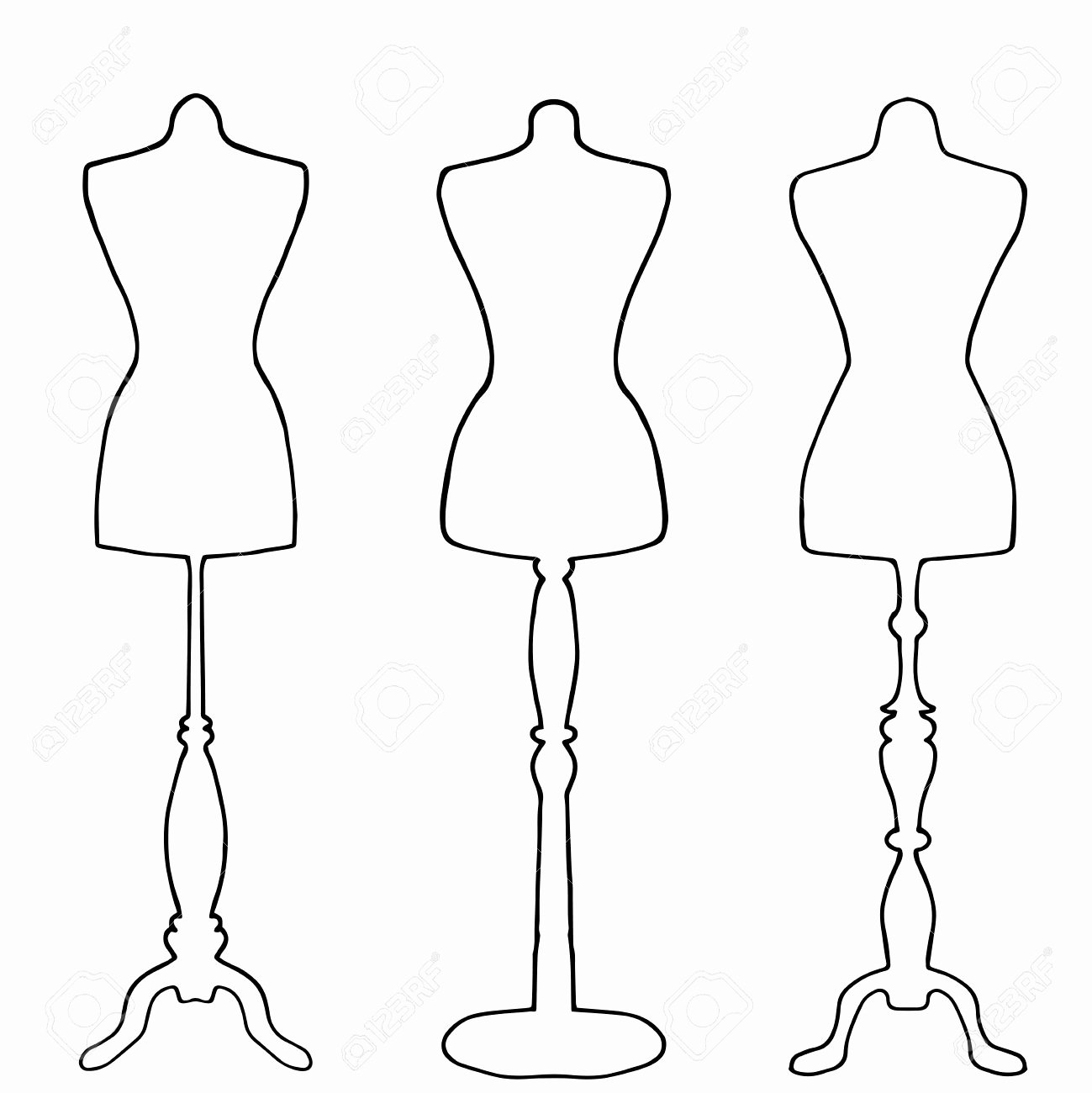 Mannequin Template for Fashion Design Inspirational Fashion Mannequin Drawing at Getdrawings