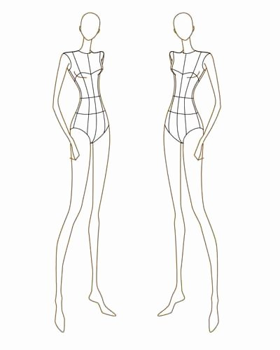 Mannequin Template for Fashion Design Lovely Fashion Design
