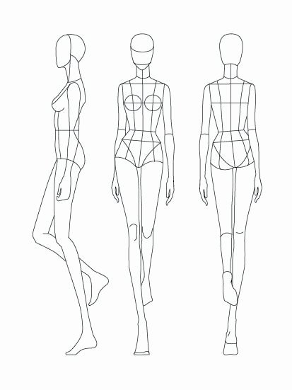 Mannequin Template for Fashion Design Luxury Download Fashion Figure Templates – Prêt à Template