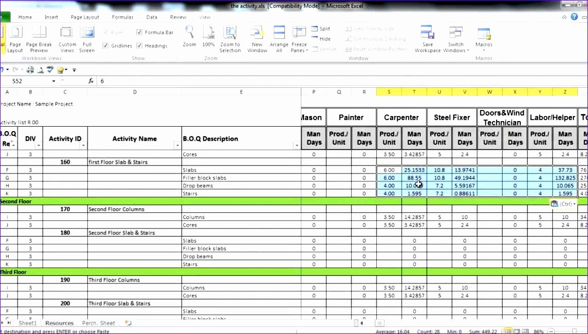 Manpower Schedule Excel Beautiful 8 Excel Manpower Planning Template Exceltemplates