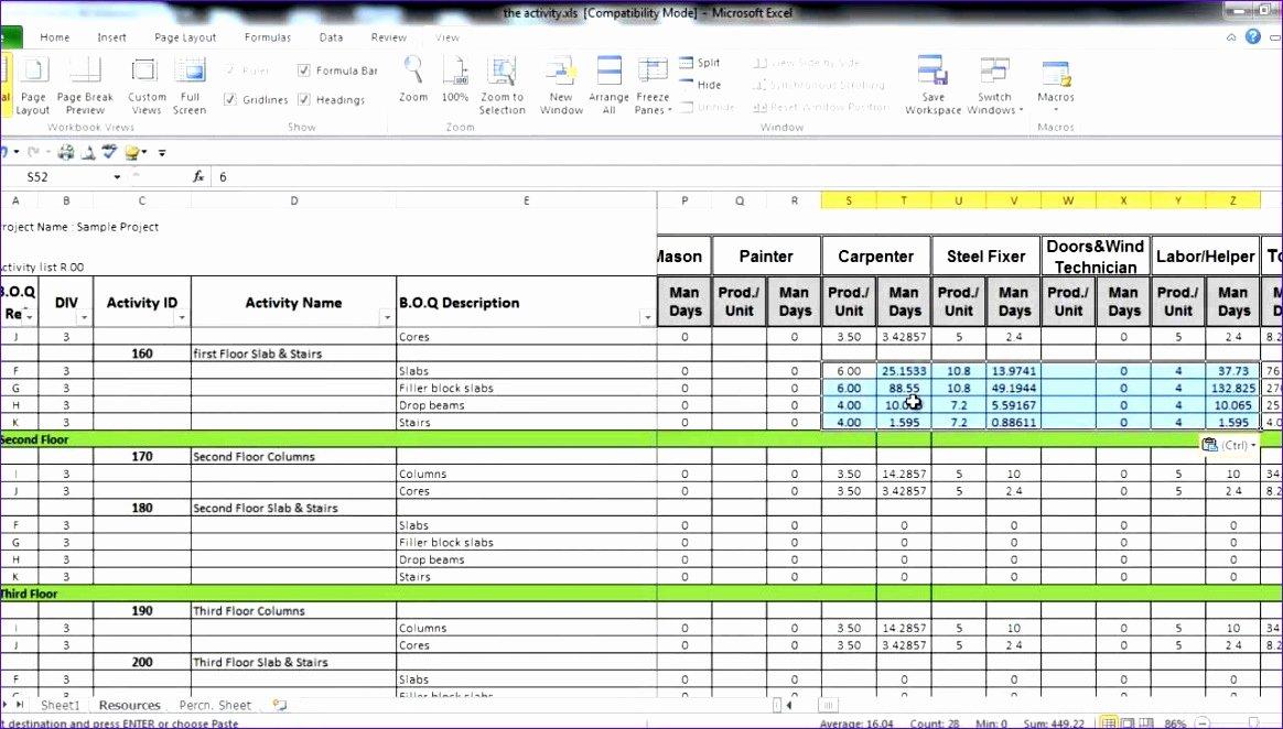 Manpower Schedule Excel Beautiful 8 Excel Manpower Planning Template Exceltemplates