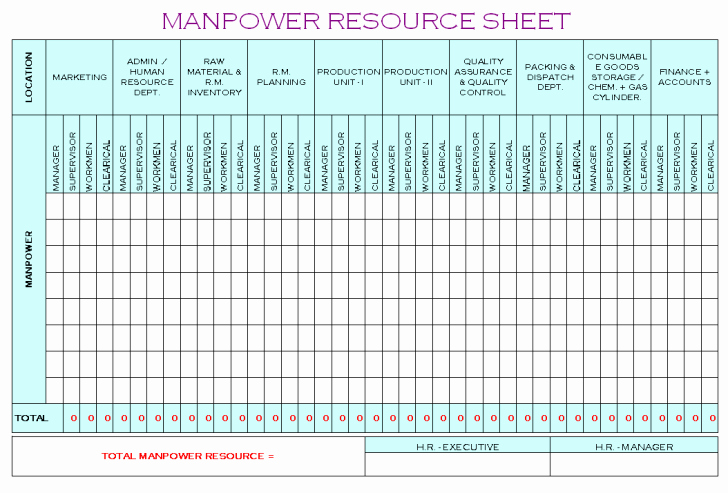 Manpower Schedule Excel New Project Manpower Planning Template – Manpower Schedule