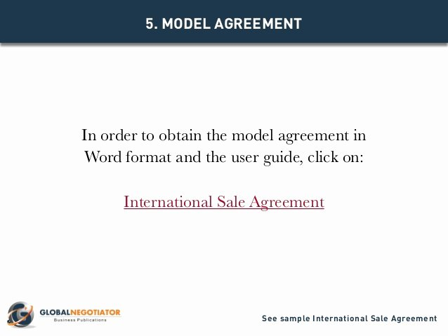 Manufacturers Representative Agreements Awesome International Sale Agreement Template