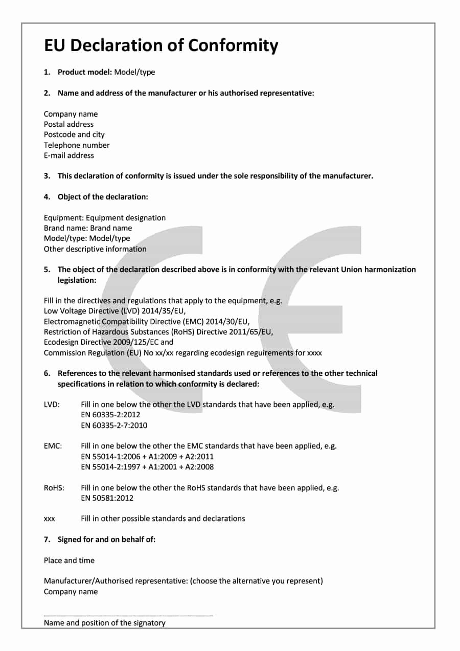 Manufacturers Representative Agreements Best Of 40 Free Certificate Of Conformance Templates & forms