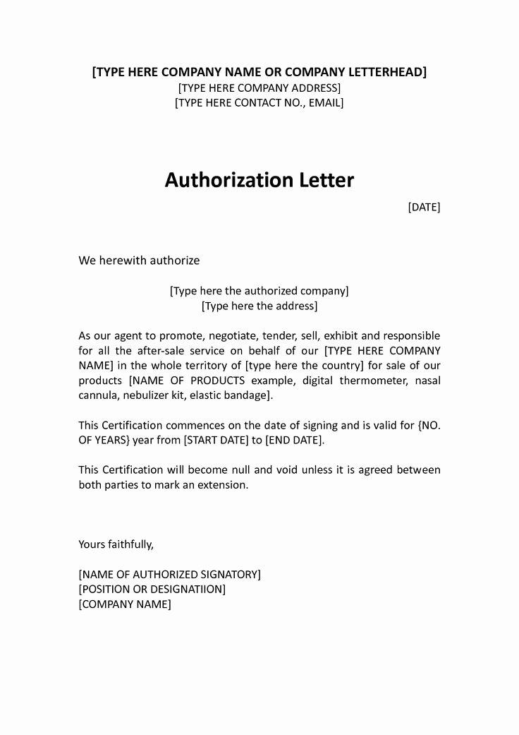 Manufacturers Representative Agreements Inspirational Authorization Distributor Letter Sample Distributor