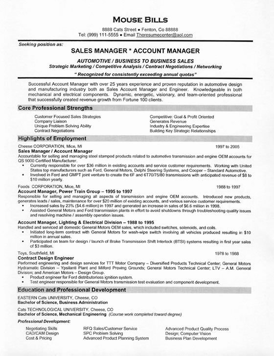 Manufacturers Representative Agreements New Car Sales Resume Examples