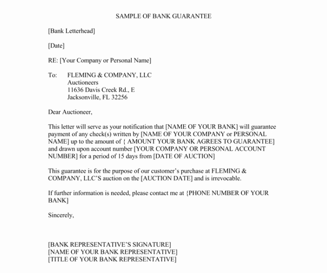 Manufacturers Representative Agreements New Letter Of Guarantee 10 Samples Templates and Writing Tips
