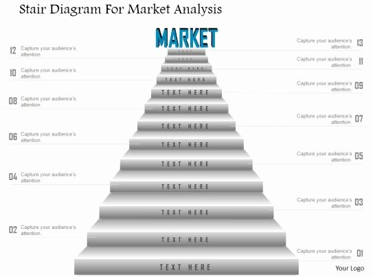 Market assessment Template Awesome Ck Stair Diagram for Market Analysis Powerpoint Template