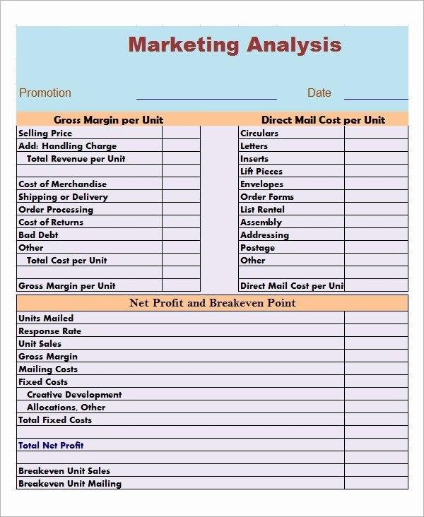 Market assessment Template Elegant Market Analysis Template