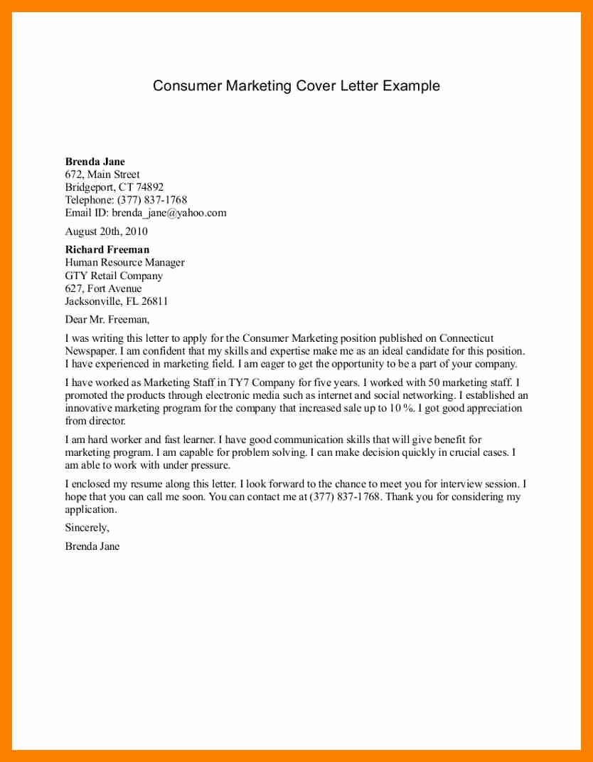 Marketing Coordinator Cover Letter Fresh 9 Marketing Cover Letter