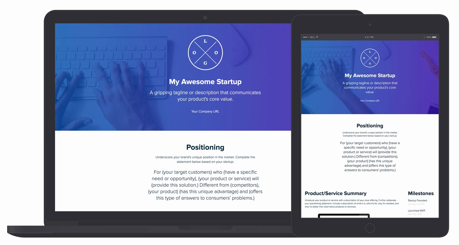 Marketing One Pager Template Best Of Startup E Pager Builder by Xtensio It S Free