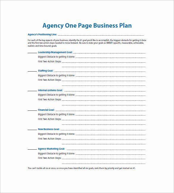 Marketing One Pager Template Elegant E Page Business Plan Template