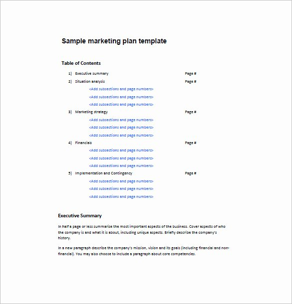 Marketing One Pager Template Fresh E Page Marketing Plan Template – 16 Free Sample