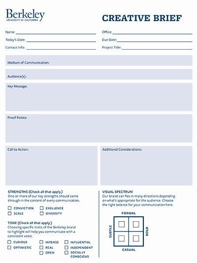 Marketing Project Request form Template Beautiful Creative Brief Template