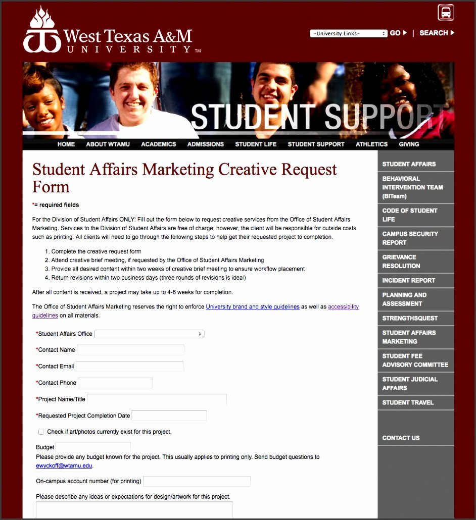 Marketing Project Request form Template Best Of 6 Marketing Project Request form Template