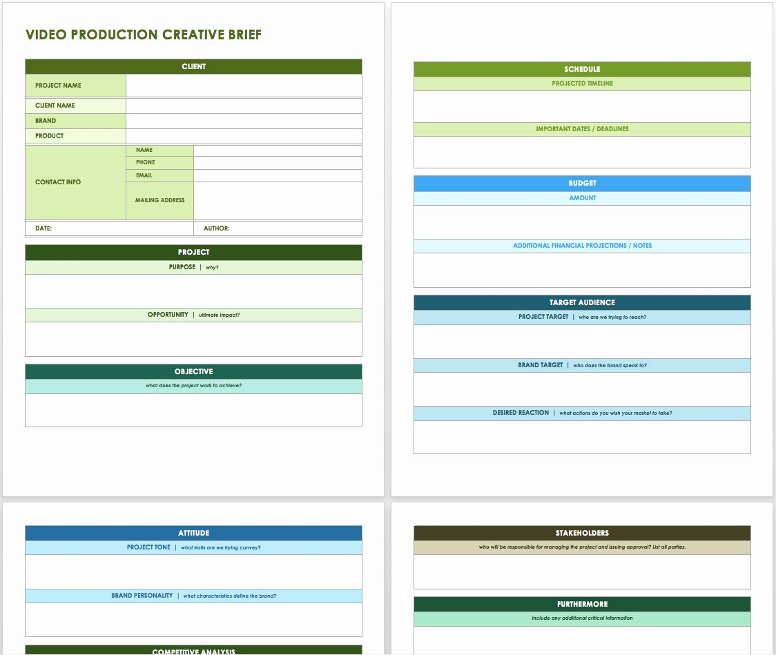 Marketing Project Request form Template Best Of Free Creative Brief Templates Smartsheet